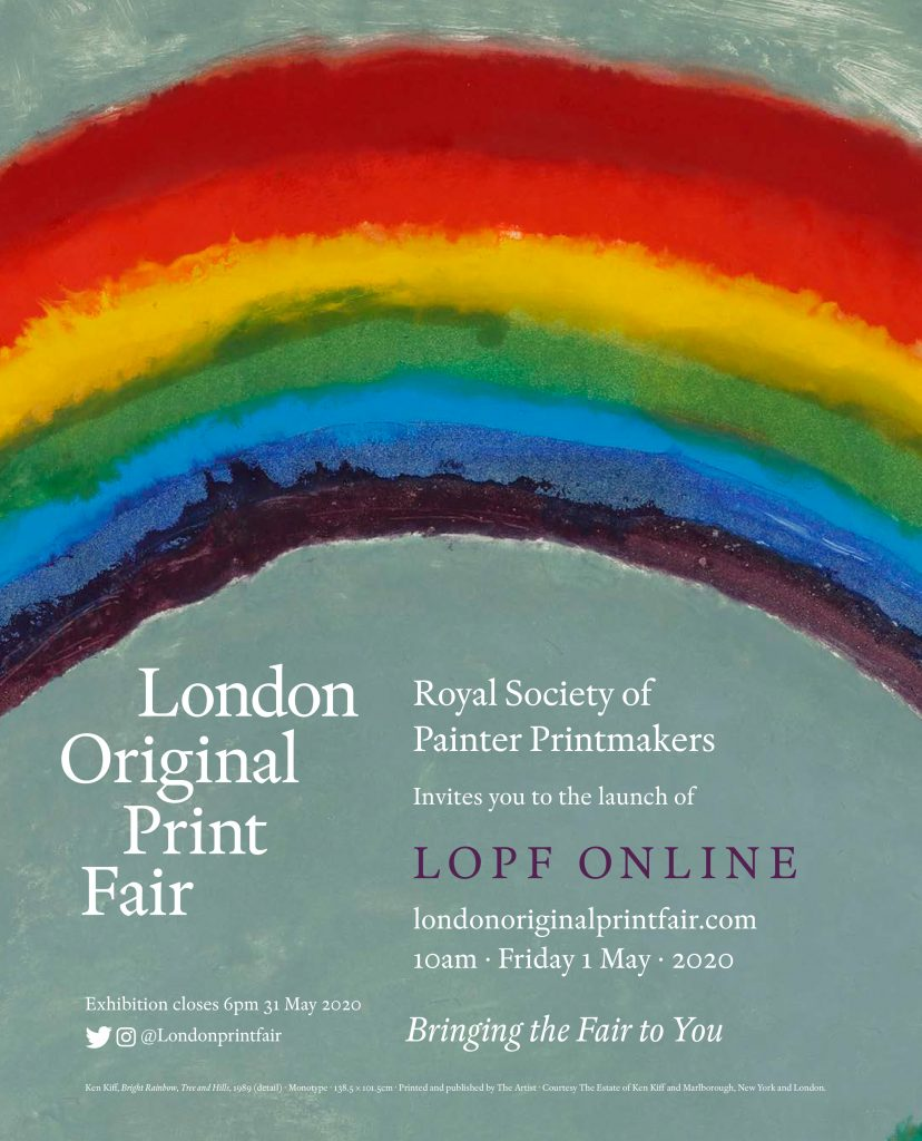 Royal Society of Painter-Printmakers invitation to view their online stand at the London Original Print Fair 2020 at Royal Academy